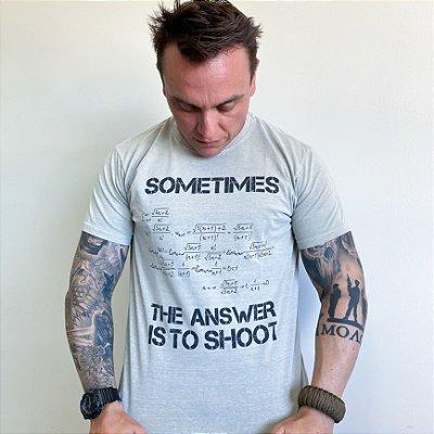 Camiseta de Algodão Estonada Cinza Equation