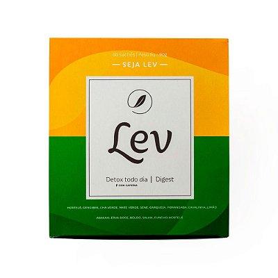 Chá LEV Detox com cafeína + Digest
