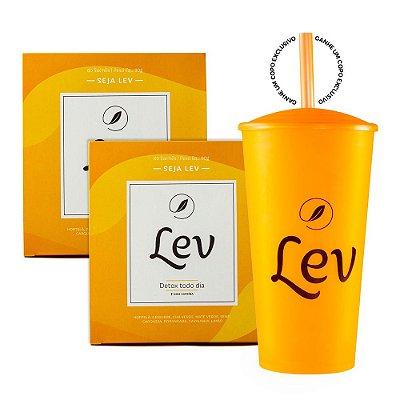 Kit Lev Detox 120 sachês (ganhe 1 Copo Lev)
