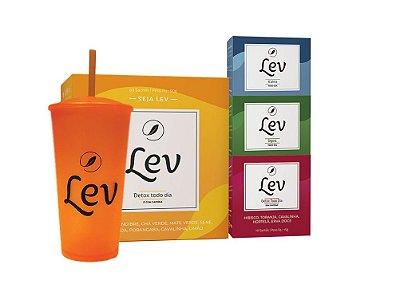 Kit Lev completo Detox  'extra' + Copo Lev