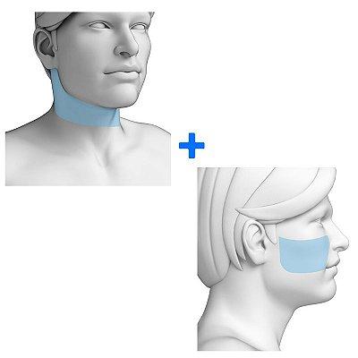 Combo Faixa de Barba + Maçã do Rosto - Pacote Completo Depilação a Laser