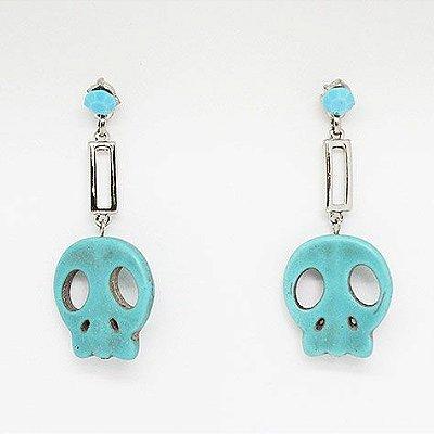 Brinco Turquoise Skull