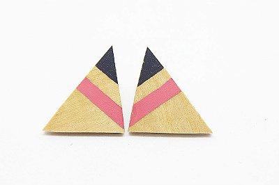 Brinco Triângulo Rosa