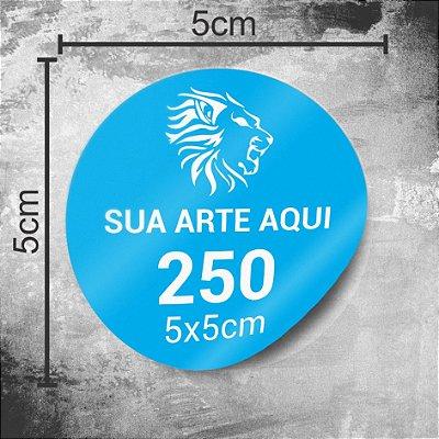 250 Adesivos Personalizados 5x5cm Redondo