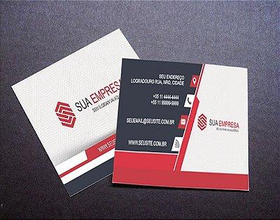 500 Mini Cartões de Visita 4x4 (Frente e Verso Coloridos)