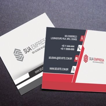 500 Mini Cartões de Visita 4x1 (Verso Preto e Branco)
