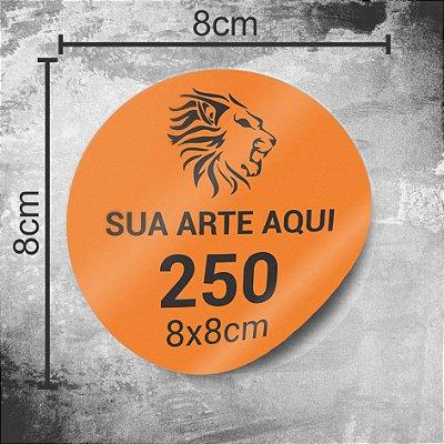 250 Adesivos Personalizados 8x8cm
