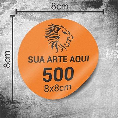 500 Adesivos Personalizados 8x8cm