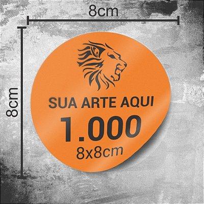 1.000 Adesivos Personalizados 8x8cm
