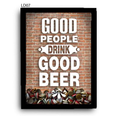 Quadro Tampinhas Good People Good Beer LDQT02