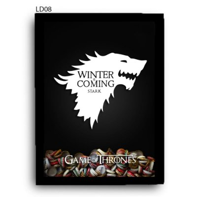 Quadro Tampinhas GoT Winter is Coming V1 LDQT05