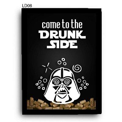 Quadro Rolhas Drunk Side Star Wars LDQR01