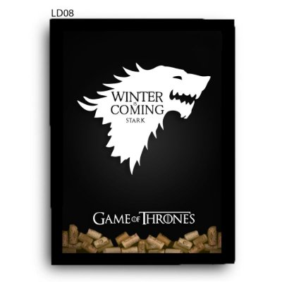 Quadro Rolhas GoT Winter is Coming V1 LDQR15