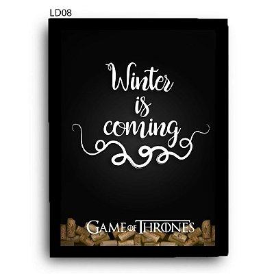 Quadro Rolhas GoT Winter is Coming v2 LDQR18