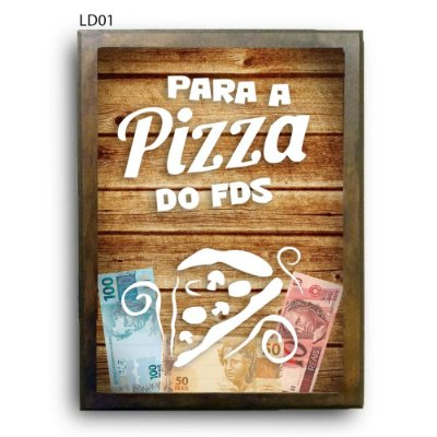 Quadro Cofre Pizza do FDS LDQC13