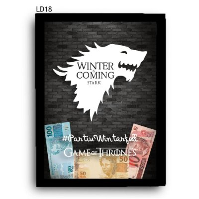 Quadro Cofre GoT Winter is Coming LDQC16