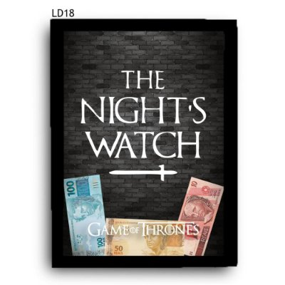 Quadro Cofre GoT Night's Watch LDQC24