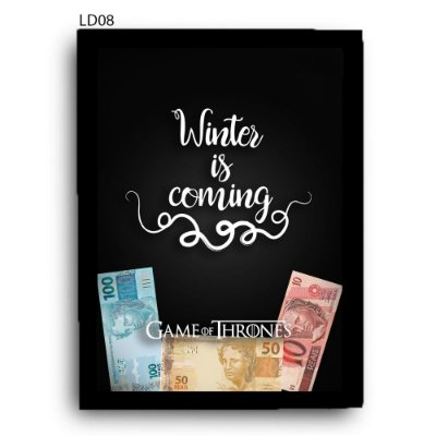 Quadro Cofre GoT Winter is Coming v2 LDQC25