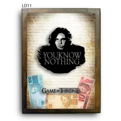 Quadro Cofre GoT Know Nothing Jon Snow v2 LDQC27