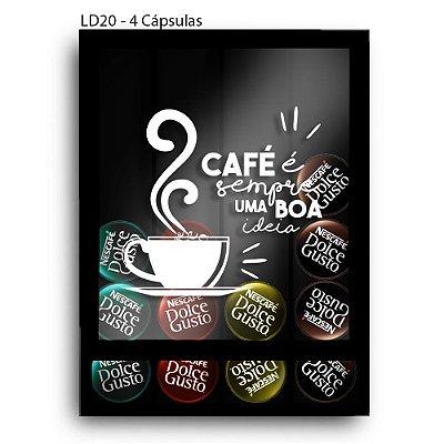 Quadro Cápsulas de Café Café Sempre Boa Ideia LDQF02