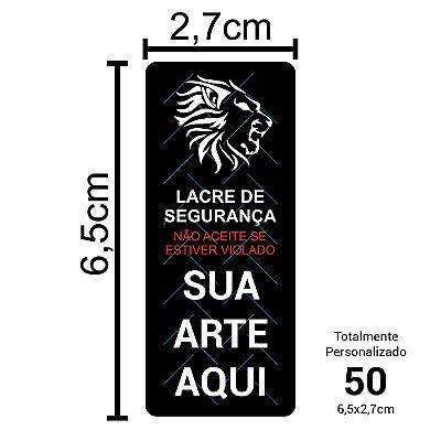 50 Lacres de Segurança Adesivos Personalizados 6,5x2,7cm