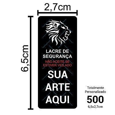 500 Lacres de Segurança Adesivos Personalizados 6,5x2,7cm