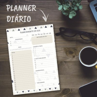 Planner Diário Personalizado Triângulos