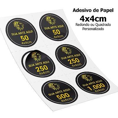 Adesivos Personalizados de Papel 4x4cm