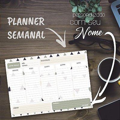 Planner Semanal Personalizado Triângulos