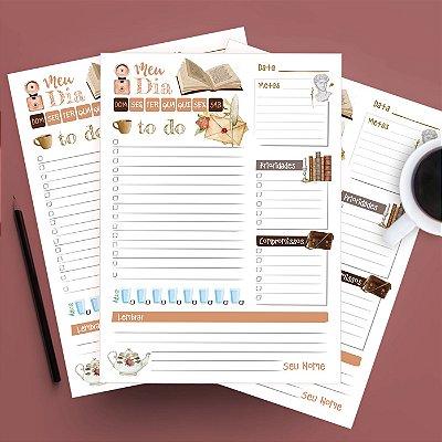 Planner Diário Personalizado Antiguidades