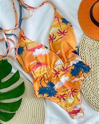 Maiô Multiformas Amarração Tropical