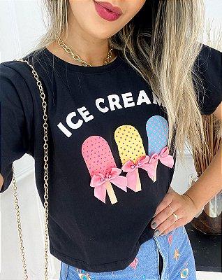 T-Shirt Cropped Premium Picolés Laço