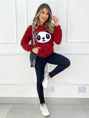 Blusa Moletom Pelinhos Panda
