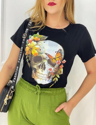T-Shirt Viscolaicra Caveira