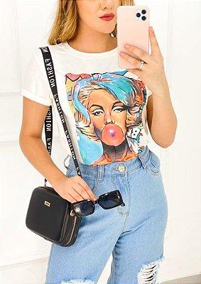 T-Shirt Viscolaicra Cartoon Chiclete