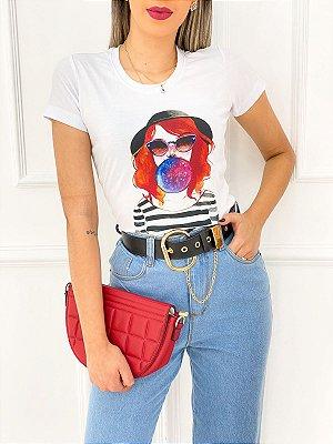 T-Shirt Poliéster Chiclete Universo