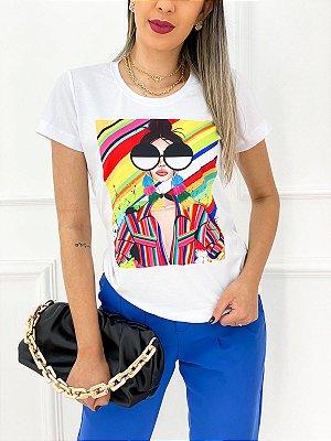 T-Shirt Poliéster Acid Girl