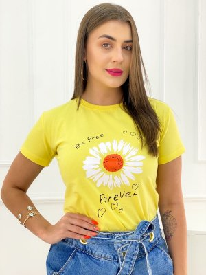 T-Shirt Estampas Be Free Forever