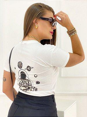 T-Shirt Estampa Astronauta