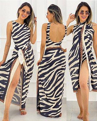Conjunto Body E Saída Zebra