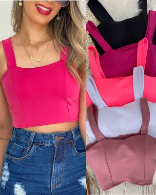 Blusa Cropped Liso