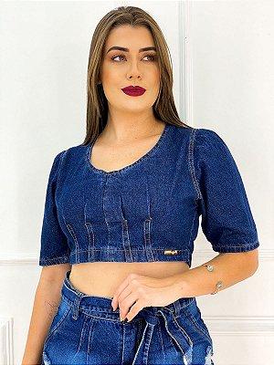Cropped Jeans Manga Bufante