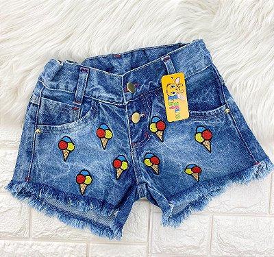 INFANTIL - Bermuda Jeans Sorvetinho