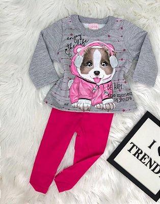INFANTIL/BABY - Conjunto Moletom Dog