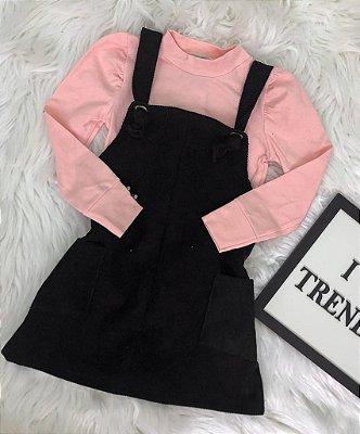 INFANTIL - Blusa De Frio Colors E Jardineira