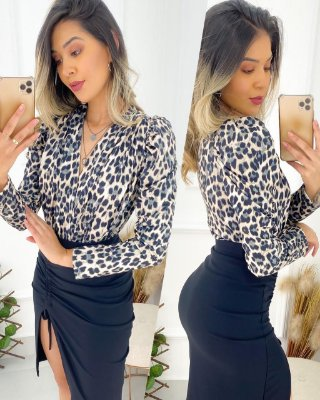 Body Animal Print Bruna Marquezine