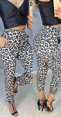 Calça Suplex Animal Print Jaguar