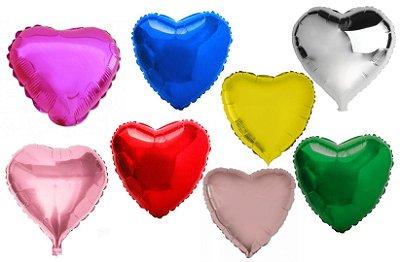 Balão Metalizado de Coração