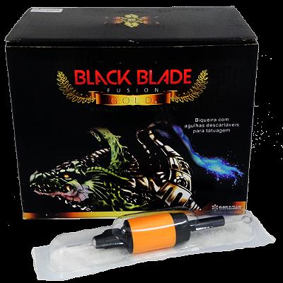 Caixa de Bico Descartável Black Blade Fusion GOLD -9RS