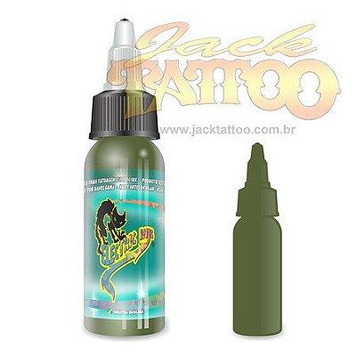 Tinta para Tatuagem - Ref 33 - Electric Ink 30ml - Verde Musgo